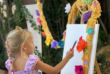 Socially Distanced Rapunzel Birthday Party